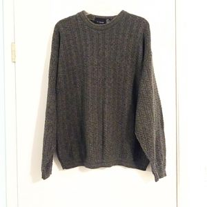 Bill Blass Olive Green Heavy Knit Sweater